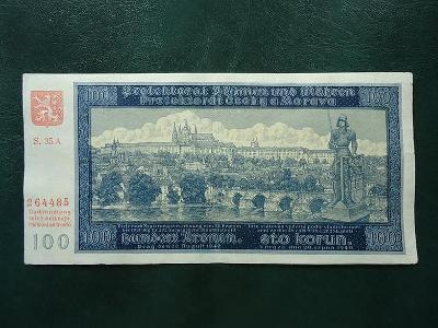 100 Korun 1940  Serie 35 A Neperforovana  2 Vydani Hezka