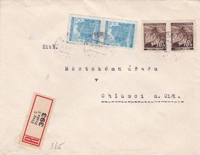 R- Praha 1942 - Chlumec n. C., s přích. (Hradec Králové).