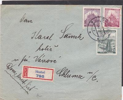 R- Skuteč 1.12.1939 (Chrudim)-Chlumec n.C.,bez přích. (Hradec Králové)