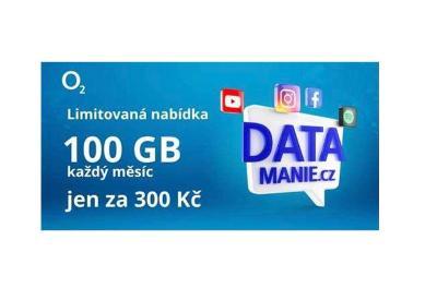3x Sim karta Datamanie-o2-sim-karta- 100gb-300kc-mesic