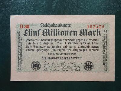 5 Millionen Mark 1923 UNC