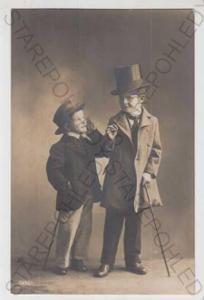 Děti - foto, dítě, cylindr, hůl, oblek, šaty, kabá