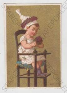 Děti - výtvarno, dítě, židle, čepice, zlacená, kol