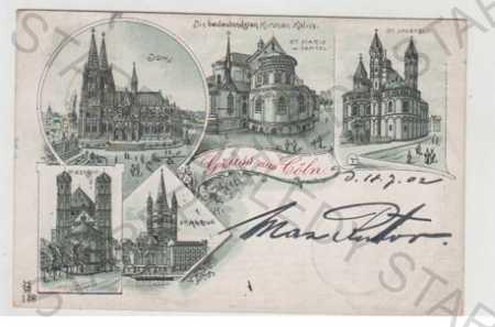 Německo, Cöln, více záběrů, kostel, kapitol, koste