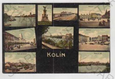 Kolín, více záběrů, partie, Labe, nádraží, náměstí