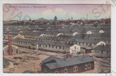 Pardubice, nemocnice, kolorovaná