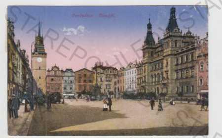 Pardubice, náměstí, kolorovaná