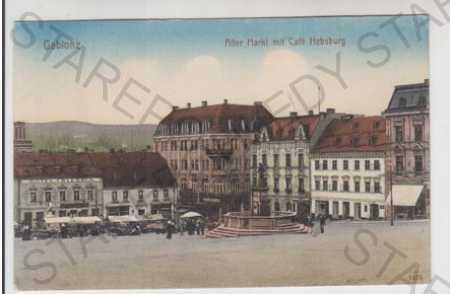 Jablonec nad Nisou (Gablonz), náměstí, trh, kavárn