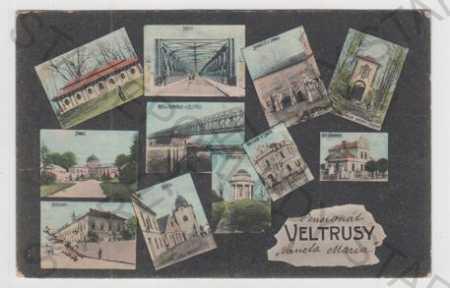 Veltrusy (Mělník), více záběrů, most, zámek, pila,