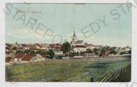 Žďár nad Sázavou, celkový pohled, kolorovaná