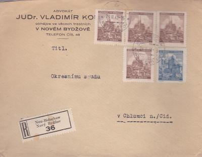 Firemní R- Nový Bydžov 1941 - Chlumec n. C., s přích. (Hradec Králové)