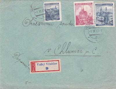 R- Velký Vřešťov 1.6.1940 (Trutnov)-Chlumec n. C., s přích., Hradec Kr