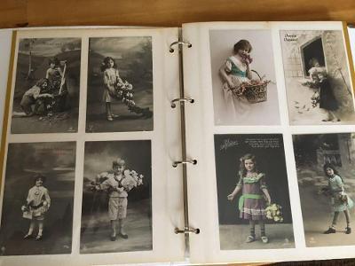 Umělecká pohlednice,děti,portrét, album