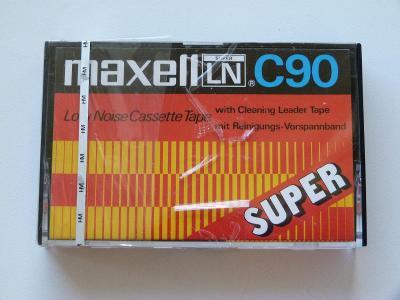 kazeta Maxell SUPER LN 90, typ I, 1972-75