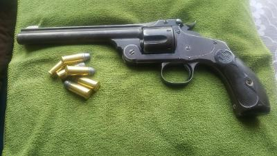 Historický revolver Smith Wesson cal.44CF SA Hezký pův. stav
