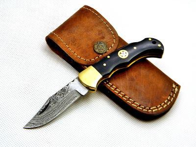 13/ Damaškový lovecky nůž. Rucni vyroba. ZAVIRACI