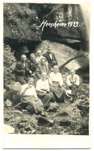 Hejšovina Malý Karlov - vodopády -živá!! r. 1922 Radków Machov Broumov