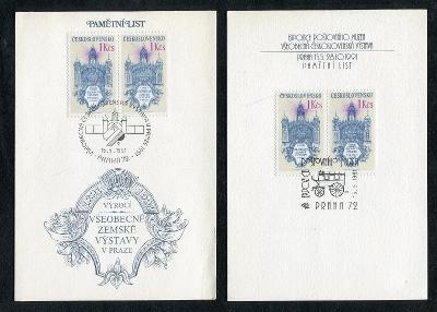 ● Všeobecná Československá výstava v Praze 1991 ● 2x Pamětní list ●
