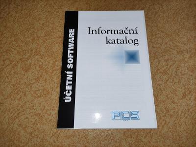 Informační katalog účetní software PCS Invex 1995