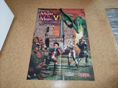 Plakát A2 Might and Magic VI z časopisu Level