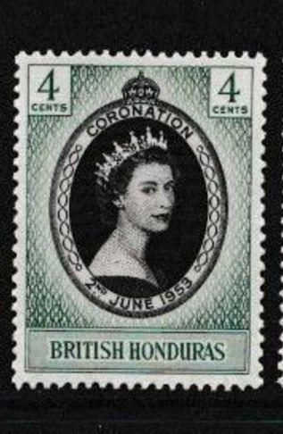 britský Honduras 1953 ** Alžbeta II korunovácia komplet