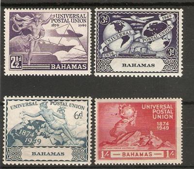 britské Bahamy 1949 ** UPU komplet
