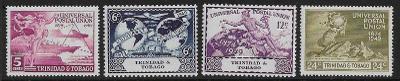 britský Trinidad a Tobago 1949 ** UPU komplet mi. 149-152