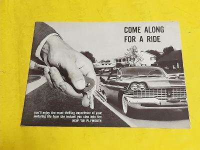 --- Plymouth - Come along for a ride (1959) ---------------------- USA