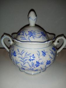 Starožitný porcelán cukrenka značení signace Schuman