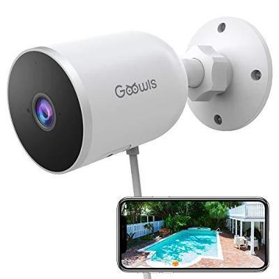 Bezpečnostní venkovní WIFI kamera GOOWLS IPC4 1080p,IP66 ,zvuk,ALEXA