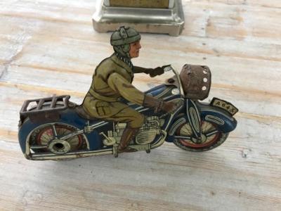 stará plechová hračka - Motocykl, motorka od ............ 1 Kč !!!
