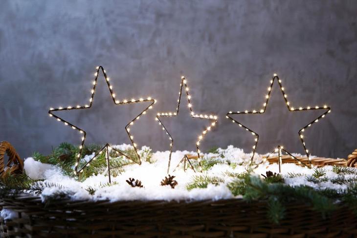 Vánoční LED hvězda 3 ks (44856428) I585  - Zařízení