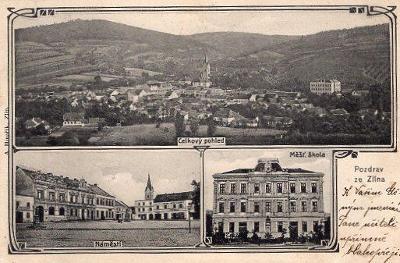 ZLÍN VLAKOVÁ POŠTA WISOWITZ-OTROKOVICE ČÍSLO 478 ROK 1906