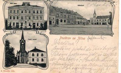 ZLÍN DA A.MINAŘÍK ZLÍN 1903