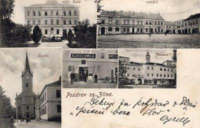 ZLÍN ZÁMEK OBCHOD ALOIS LIDMILA DA 1904