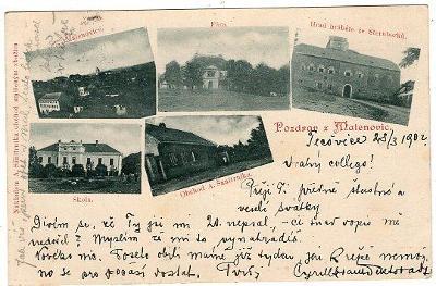 MALENOVICE NÁKL. A. SANITRNIKA OBCHOD SMÍŠENÝM ZBOŽÍM HRAD DA 1902
