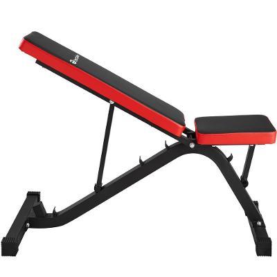 tectake 402601 šikmá lavice posilovací nastavitelná - černá/červená