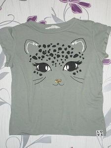 Super tričko H&M pro slečnu, velikost 134/140 - kočičkové
