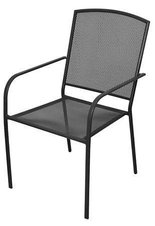 Zahradní židle, černá, 61x56x89 cm (Bazar) 6ks, cena za kus
