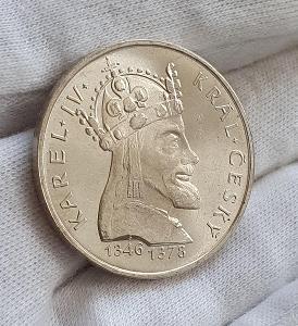 Stříbrná mince z roku 1978 - 100 Kčs Karel IV.