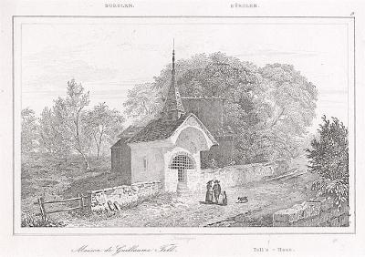 Bürglen Tellhaus, Le Bas, oceloryt 1842
