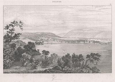 Geneve Genf, Le Bas, oceloryt 1842