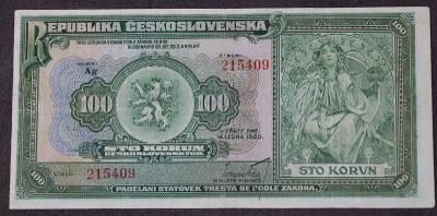 100 Kčs 1920 - série Ag