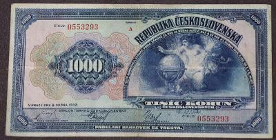 1000 Kčs 1932 - série A