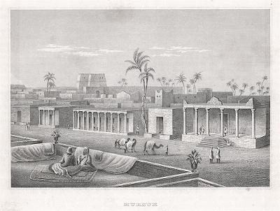 Mursuk Libye, Meyer, oceloryt, 1850