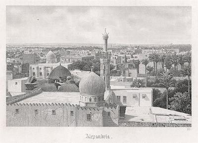 Alexandria, oceloryt, (1860)