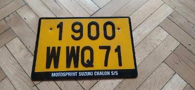 SPZ Francie Moto department 71 žlutá