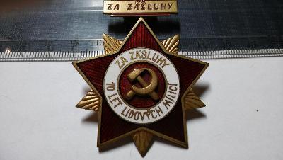SUPER SMALT. vyznamenání  1958,velké a těžké i s odznakem-KOMPLET.R!!!
