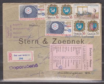 Ústí nad Orlicí - doporučený dopis do ciziny vráceno zpět