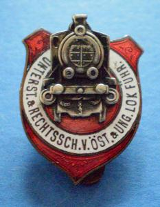 Starý rakouský odznak, smalt, klopový